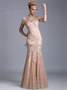 Trendy Sheer Mermaid Lace Mother Formal Wear Evening Dress Short Sleeve Applique Party 2018 Mother Of The Bride Dress Suit Gowns Best Formal Dresses, Prom Dresses For Sale, Cheap Evening Dresses, Mermaid Evening Dresses, Petite Dresses, Evening Gowns, Evening Party, Formal Wear, Cheap Dress
