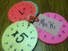 Multiplication Disks - a fun alternative to plain boring flashcards