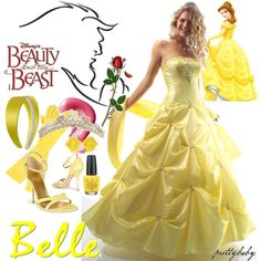 disney princess prom dresses - belle prom dress. I would wear this if it had sleeves.