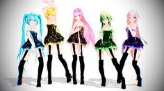 TDA Vocaloid Girls Pack Download!! by KiiroKitsune99.deviantart.com on @DeviantArt