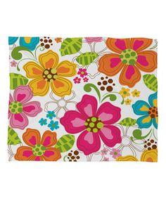 Look what I found on #zulily! Kaui Blooms Fleece Throw by DENY Designs #zulilyfinds