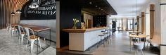 Afbeeldingsresultaat voor houten of betonnen bar cafe