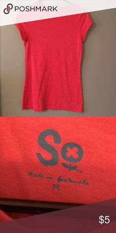 Red crew neck tee Basic red crew neck. In amazing condition. Fits good and is not stretched out. SO Tops Tees - Short Sleeve