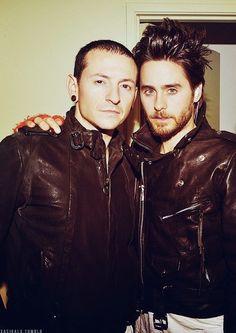 Chester Bennington & Jared Leto.  .Emy Cubbins.