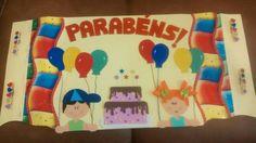 Cartaz de feliz aniversario!!!