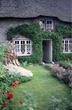 Adare Cottage, County Limerick, Ireland  Shell - I want to live in this website ;-) How about you? Cottage Homes, Cozy Cottage, Irish Cottage, Cottages Anglais, Little Cottages, Country Cottages, Thatched Roof, Casa Linda, England Ireland