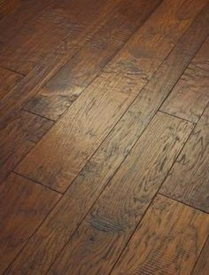 Engineered Hardwood Flooring: 3/8 in. x 3-1/4 in., 5 in. and 7 in. Hand Scraped - contemporary - wood flooring - Home Depot