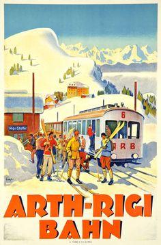 SWITZERLAND - Arth-Rigi Bahn 1924 Otto Ernst #Vintage #Travel #Winter