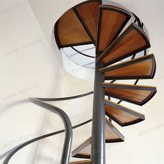 Spiral staircase (steel frame and wooden steps) STYLE WOOD Alfa Scale