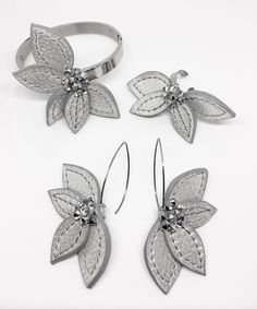 TOGU Lotus collection - Leather jewelry with Swarovski cristals