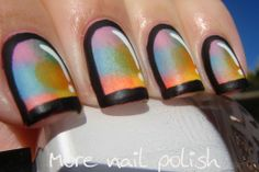 More Nail Polish: Multicoloured Cartoon nails