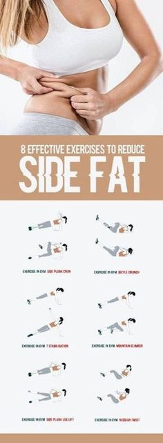 8 Effective Exercises To Reduce Side Fat of Waist - All Just You #fat #pinching #fitness #workout #beauty #health by trisha