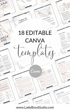 GET 20 pages of editable canva templates instantly when you get these Rose Gold eBook Templates! These Rose Gold eBook Templates are stunning from top to bottom. Easily create the eBook or Workbook of your dreams! Great for eBook Template, workbook template, course template, or worksheets! #canvatemplates #rosegold #contentupgrade