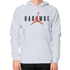 Harambe X Jordan Hoodie (on man)
