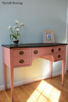 Thrifted vintage vanity gets a makeover - Thrift Diving