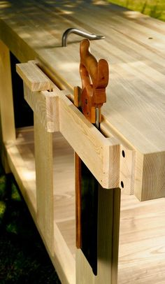 Last year at the Woodworking In America conference in Valley Forge, PA we received an order for a bench from someone who deserv. Workbench Plans, Woodworking Workbench, Woodworking Workshop, Fine Woodworking, Woodworking Crafts, Industrial Workbench, Garage Workbench, Build Your Own Garage, Carpenter Work