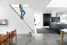 concrete floors, modern