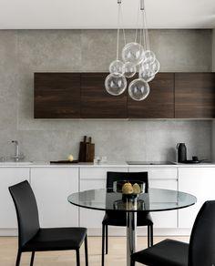 kitchen Lighting Store, Home Lighting, Italia Design, Apartment Interior, Living Room Inspiration, Light Decorations, Lamp Light, Dining Table, Dining Rooms