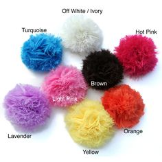 Envy Soft Puff Flower Clip ( Turquoise flower puff) Girl's