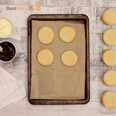 Make this simple recipe your go-to for any kind of biscuit you make. Biscuit Recipe Video, Biscuit Dough Recipes, Baking Recipes, Cookie Recipes, Dessert Recipes, Biscuit Cookies, Food Cakes, Sweet Recipes, Simple Recipes