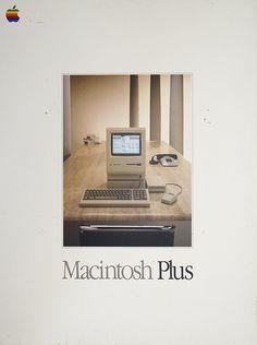 Macintosh Plus - Vintage Apple Computer Poster
