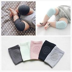 Humble Baby Boys Girls Striped Knee Pads Crawling Baby Knee Protectors Leg Warmers Floor Socks One Size Baby Colorful Girls' Baby Clothing