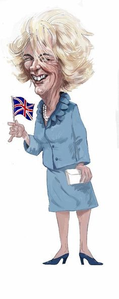 Camilla Parker Bowles, spouse of Prince Charles (Nữ công tước xứ Cornwall) Funny Pictures Of Women, Crazy Funny Pictures, Funny Caricatures, Celebrity Caricatures, Lady Diana Spencer, Camilla Duchess Of Cornwall, Camilla Parker Bowles, Prince Charles And Camilla, Royal Art