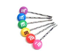 M  M Candy Hair Pins  ONE PAIR by LokiMonster on Etsy, $4.75   http://handcraftpinterest.blogspot.com/