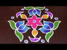 Sankranthi Special to 6 interlaced Dots) Easy Rangoli Simple Rangoli Designs Images, Free Hand Rangoli Design, Small Rangoli Design, Rangoli Border Designs, Rangoli Designs Diwali, Rangoli Designs With Dots, Kolam Rangoli, Flower Rangoli, Rangoli With Dots