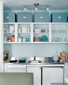 organizing small kitchens custom shelves for the gap between fridge and cupboard 1275