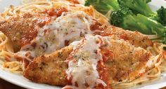 Under $2.75 per serving. Our inspired rendition of the classic Chicken Parmigiana. Tender chicken cutlets, encrusted with Parmesan cheese and seasonings, are topped with marinara sauce and mozzarella.