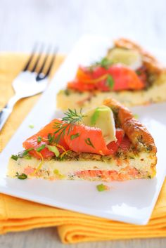 Salmon tortilla with camembert cheese