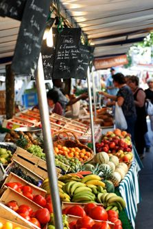 We love shopping at markets for food and rare antiques. Open-air markets, like Paris' Rue Montogueil, are usually the best places to find fresh food.