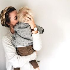 Adorable photo capture the happy moment of a mother and child