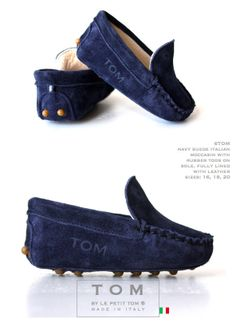 baby mocs, tom mocs, moccasin baby, boy shoes   Le Petit Tom ®