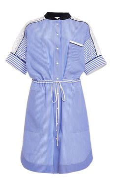 Aquilano.Rimondi Striped Contrast Shirt Dress, $970; modaoperandi.com - ELLE.com