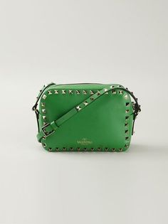 green 'Rockstud' crossbody leather bag from Valentino Garavani. Shop it online on shop.genteroma.com or visit #genteroma boutiqes. More colors available!