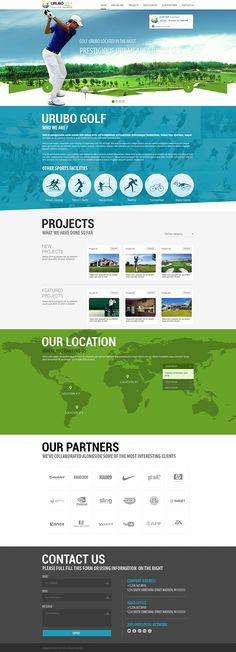 URUBO One Page Website on Behance