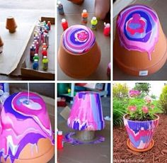 You do not need any special creative skills to make DIY Mother's Day Crafts. Check out the gallery for some unique Mother' Day Crafts ideas. Diy Mother's Day Crafts, Clay Pot Crafts, Mother's Day Diy, Mothers Day Crafts, Cute Crafts, Diy Crafts To Sell, Crafts For Kids, Large Flower Pots, Painted Flower Pots