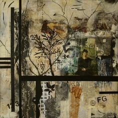 Nostalgia No.8 by Carol Staub Mixed Media Collage ~ 26 x 26