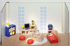 Puppenmöbel Wohnzimmer 1er Set