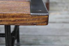 Pipe leg Coffee Table Industrial Coffee Table by ReclaimedWoodUSA