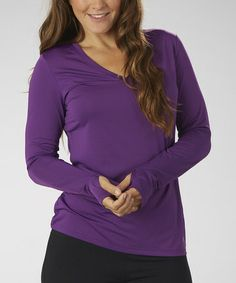 Take a look at this Purple Magic V-Neck Tee by Marika on #zulily today!