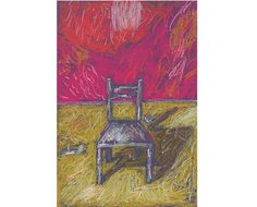 "Original Soft Pastel Painting, ""I Am On Fire"", Pastel Drawing, Artwork, Colour, Fine Art, Chair on Etsy, $60.00"