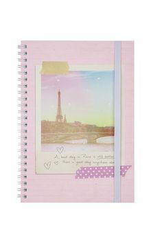 a5 spinout notebook, PARIS POLAROID