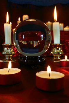 Scrying: Crystal or glass balls are often used in scrying.