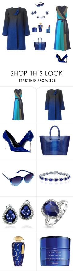 """""""Another Blue Winter Look"""" by rossperdicita ❤ liked on Polyvore featuring Diane Von Furstenberg, Armani Collezioni, Paolo Shoes, Victoria Beckham, Nanette Lepore, West Coast Jewelry, Bling Jewelry, The Merchant Of Venice, Guerlain and Lipstick Queen"""