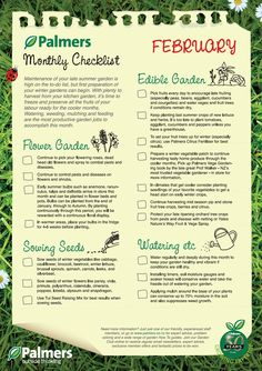 February garden tasks #PalmersGardenCentre