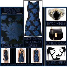 Building Your Wardrobe For Fall 2015 - Jacquard Dress by latoyacl featuring black handbags