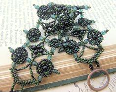 Jewelry: Spanish Lace Beadwoven Cuff Bracelet